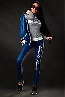 Костюм женский тройка из джинсовой ткани и трикотажа P3376
