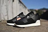 "Кроссовки женские в стиле Adidas Originals ZX700 Remastered ""Black/White"""