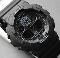 Распродажа! Спортивные часы Casio G-Shock ga-100 Black - Касио джи шок га 100