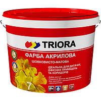 Краска интерьерная акриловая шелковисто-матовая TRIORA