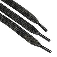 Шнурок 9 мм плоский черный с хаки 150 см