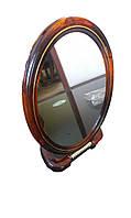 Зеркало коcметичеcкое овальное двустороннее с увеличением, на подставке №8