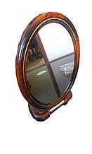 Зеркало коcметичеcкое овальное двухстороннее с увеличением, на подставке №8