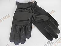 Тактические перчатки Tactical утепленные черные, фото 1