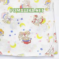 Детская ситцевая (ситец) пеленка 110х90 см для пеленания, тонкая, 3115-11 Желтый