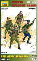 Сборная модель Zvezda (1:35) Пехота красной армии (набор № 1)