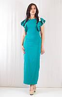 Оригинальное нарядное летнее длинное платье в пол