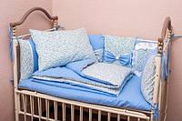 Детский набор постельного белья+бортики Материал: 100% хлопок (Польша)