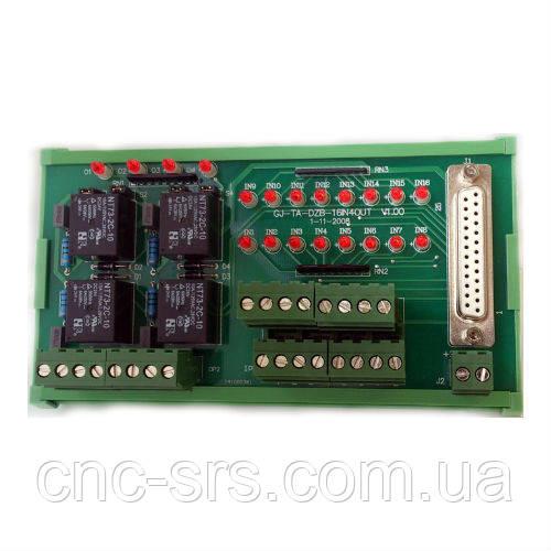 Модуль входов/выходов с релейной коммутацией  и индикацией (16IN/4OUT) NC301-201