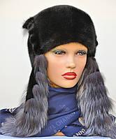 "Женская шапка норковая ""Ушанка"", фото 1"