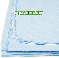 Детская ситцевая (ситец) пеленка 110х90 см для пеленания, тонкая, однотонная в горошек 3115-15 Голубой