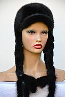 """Женская шапка """"Ушанка""""  из норки (длинные уши)"""