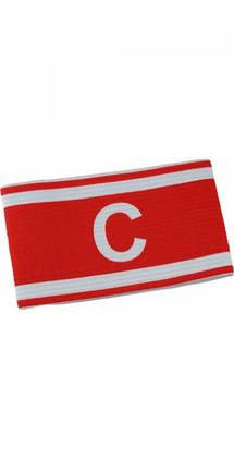 Капитанская повязка красная на липучке, фото 2
