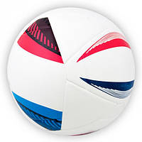 Мяч футбольный Euro белый клеенный [5], фото 1