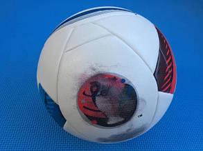 Мяч футбольный Euro белый клеенный [5], фото 2