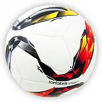 Мяч футбольный Torfabrik белый клеенный [5]