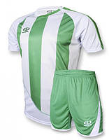 Футбольная форма Europaw 001 бело-зеленая