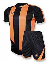 Футбольная форма Europaw 001 черно-оранжевая, фото 1