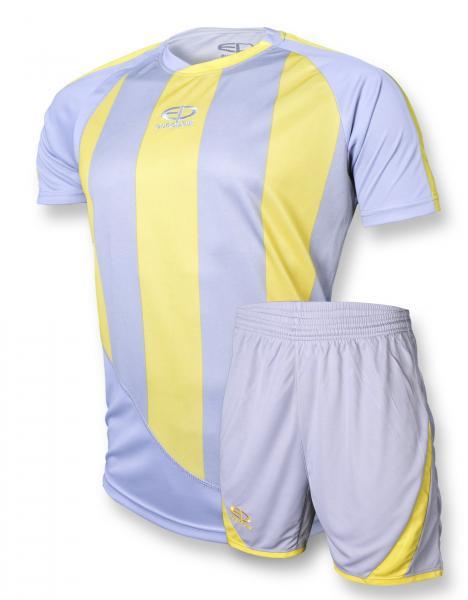 Футбольная форма Europaw 001 серо-желтая [S]