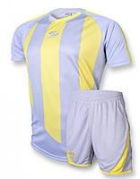 Футбольная форма Europaw 001 серо-желтая