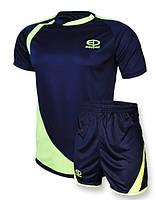 Футбольная форма Europaw 002 т.синяя-салатовая [XS]