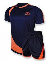 Футбольная форма Europaw 002 т.синяя-оранжевая [XS]