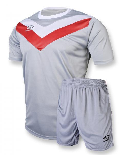 Футбольная форма Europaw 004 серо-красная XS