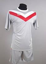 Футбольная форма Europaw 004 серо-красная XS, фото 3