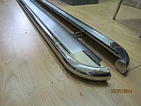 Пороги боковые на Mercedes ML 164 2005-2011