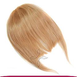 Накладна Чілка з Натурального Волосся, Світло-Русявий №16