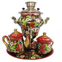 Самовар електричний з чайним сервізом (4 предмета)