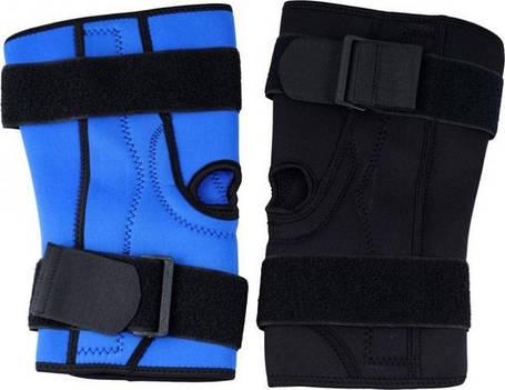 Наколенник неопреновый с утяжками синий, фото 2