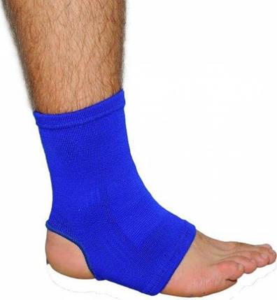Голеностоп тканевый синий (пара), фото 2