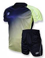 Футбольная форма Europaw 007 т.синяя-салатовая [XS]