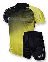 Футбольная форма Europaw 007 черно-желтая [S]
