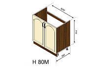 Н 80М Флора нижний модуль (Світ Меблів ТМ)
