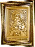 Икона деревянная резная Божией Матери Семистрельная, фото 1