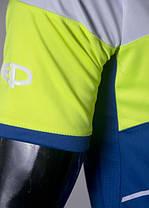 Футбольная форма Europaw 008 сине-салатовая, фото 3