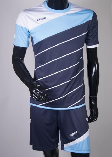 Футбольная форма Europaw 008 т.синяя-голубая