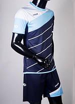 Футбольная форма Europaw 008 т.синяя-голубая, фото 2