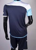 Футбольная форма Europaw 008 т.синяя-голубая, фото 3