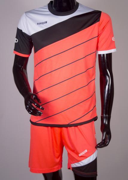 Футбольная форма Europaw 008 кораллово-черный