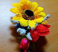 Заколка для волос с цветами.
