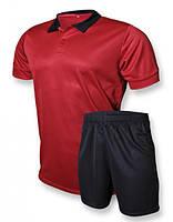 Футбольная форма Europaw club красно-черная M L