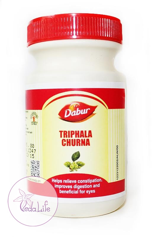 Трифала порошок, Трифала чурна, Triphala churna, 120 грамм - нормализация функций ЖКТ