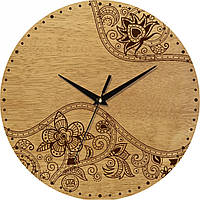 Настенные эко часы UTA с цветочным орнаментом
