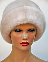 """Женская шапка норковая """"Шляпа-отворот"""""""