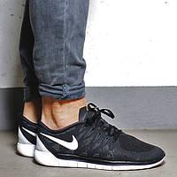 Мужские кроссовки Nike free run 5.0 642198 Black-White
