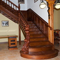 Лестница деревянная №9