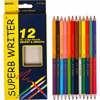 Цветные карандаши Marco двухсторонние 24 цв